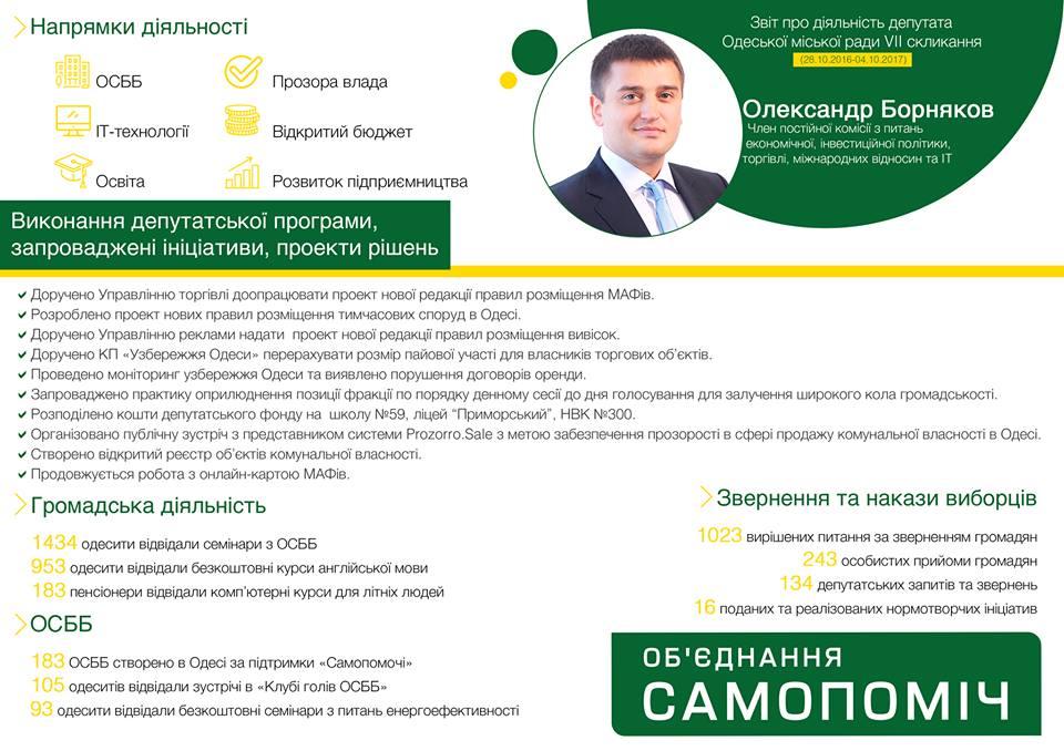отчет борнякова депутата